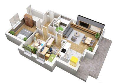 Apartament B 43.1